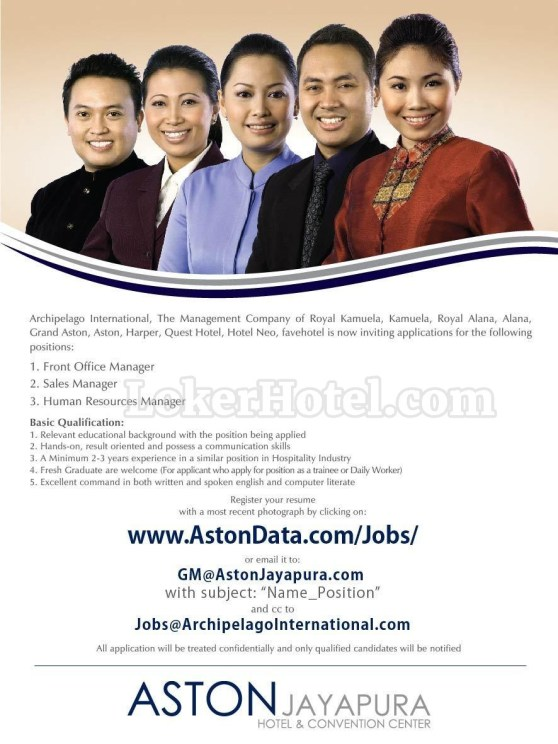 Job Vacancy Aston Jayapura