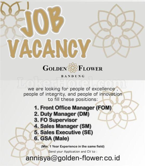 Job Vacancy Golden Flower Bandung