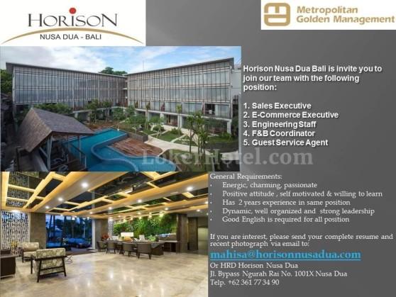 Job Vacancy Horison Nusa Dua Bali