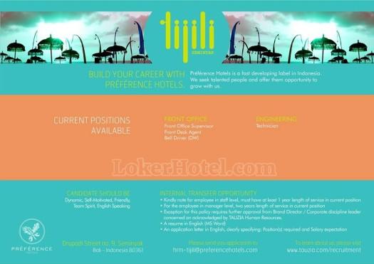 Lowongan Tijili Hotel Seminyak Bali