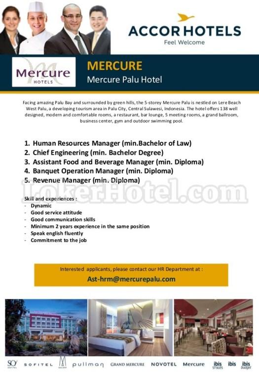 Job Vacancy Mercure Palu Hotel