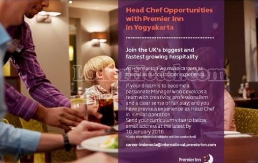 Job Vacancy Premier Inn Yogyakarta
