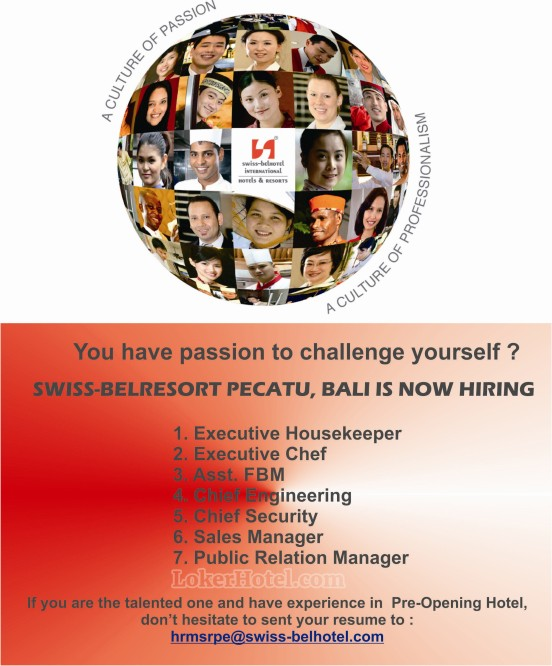 Job Vacancy Swiss-Belresort Pecatu Bali
