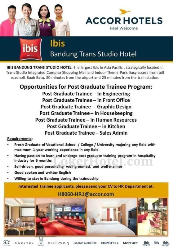 Job Vacancy ibis Bandung Trans Studio