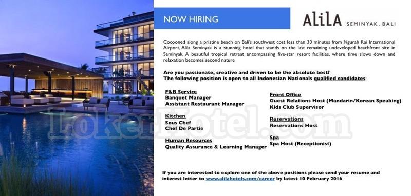 Job Vacancy Alila Seminyak Bali [CLOSED] - Lowongan Kerja ...