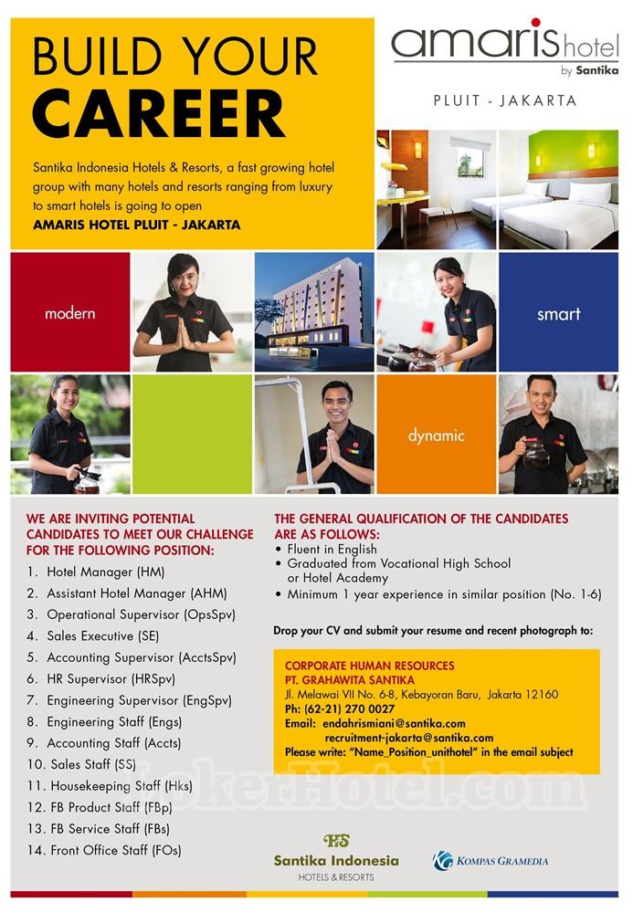 Job Vacancy Amaris Hotel Pluit Jakarta Loker Lowongan Kerja Hotel