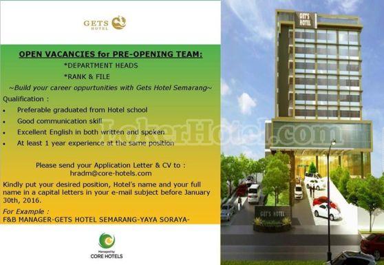 Pre Opening Team Gets Hotel Semarang