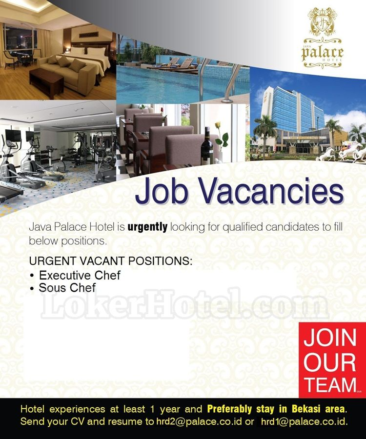 job vacancy java palace hotel cikarang  closed
