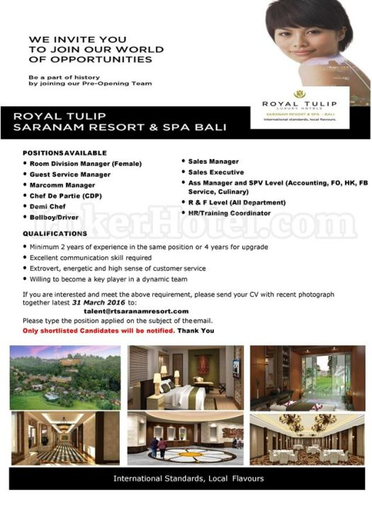 Royal Tulip Saranam Resort & Spa Bali