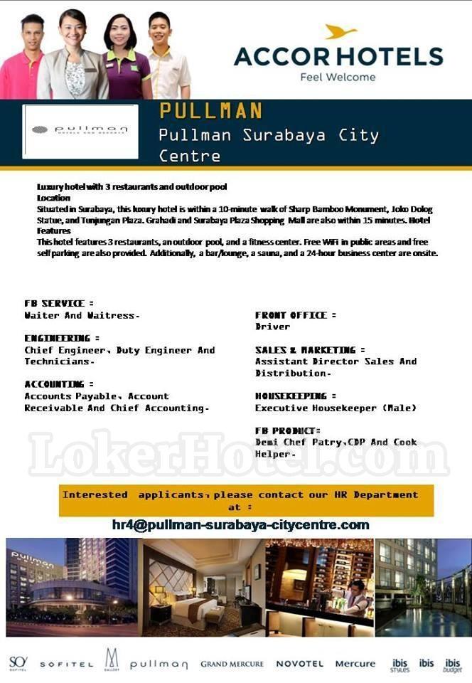 Job Vacancy Pullman Surabaya City Centre Lokerhotel Com