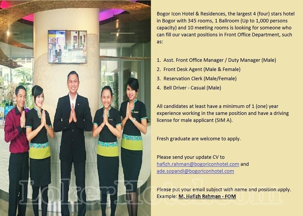 Job Vacancy Bogor Icon Hotel Residences Lokerhotel Com