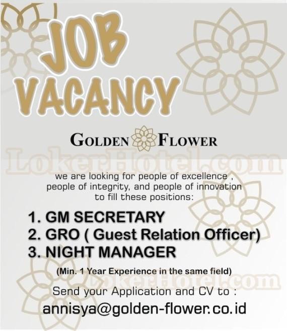 Hotel Tentrem Yogyakarta Closed: Job Vacancies Golden Flower Hotel Bandung