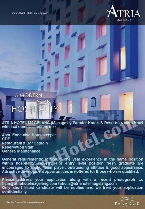 Job Vacancy Atria Hotel Magelang