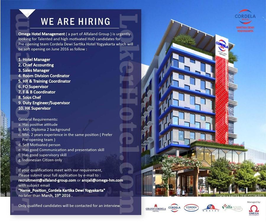 Job Vacancy Hotel Surabaya 2018
