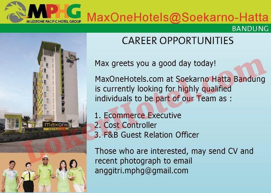 Maxone Hotel Soekarno-Hatta Bandung - Loker Lowongan Kerja ...