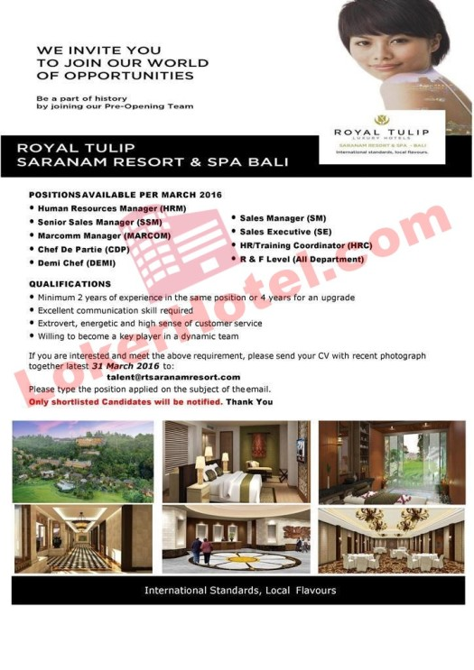 Royal Tulip Saranam Resort & Spa Bali