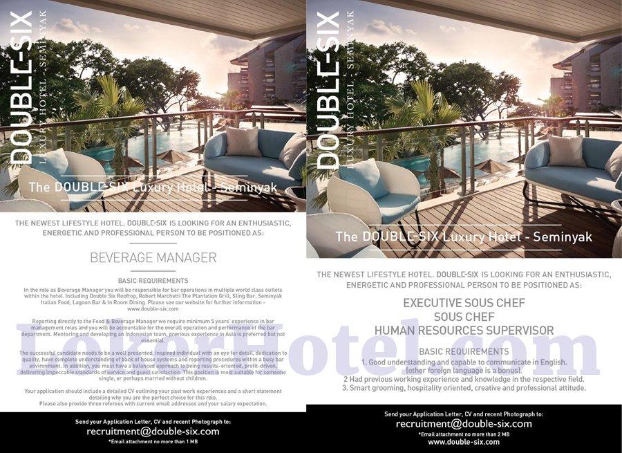 Double Six Luxury Hotel Seminyak - Loker Lowongan Kerja Hotel