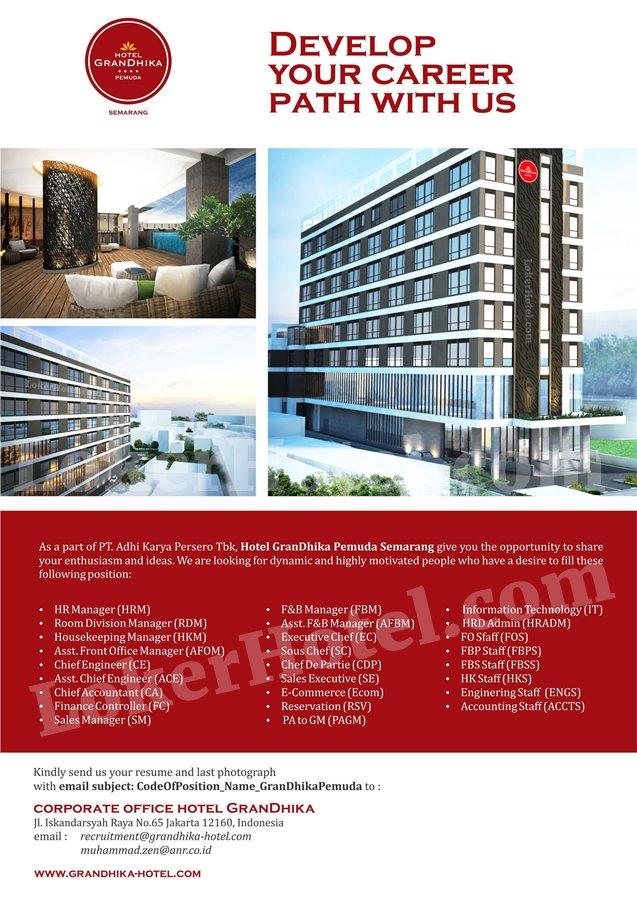 Hotel Grandhika Pemuda Semarang Loker Lowongan Kerja Hotel