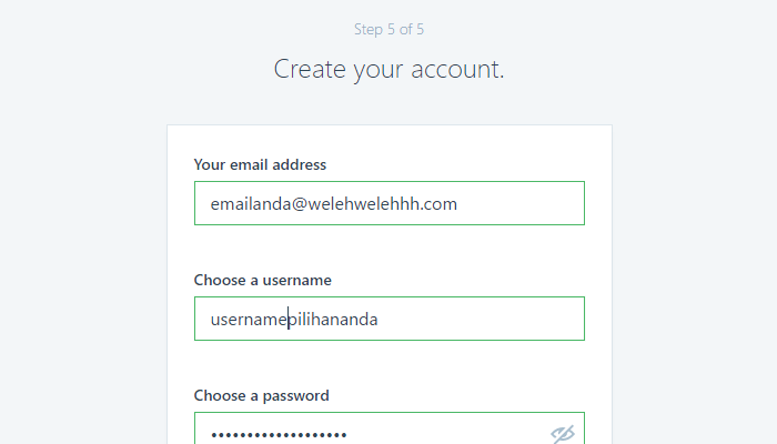 Create Your Account!