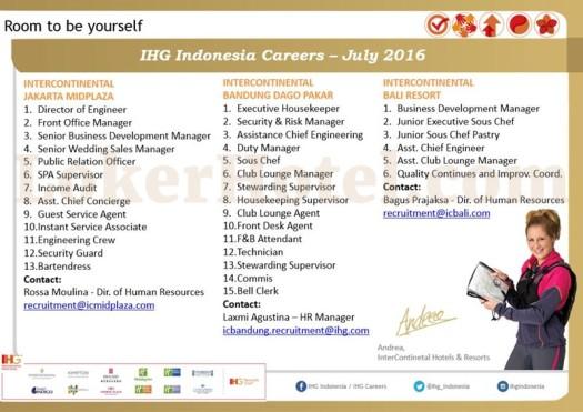 InterContinental Jakarta, Bandung & Bali