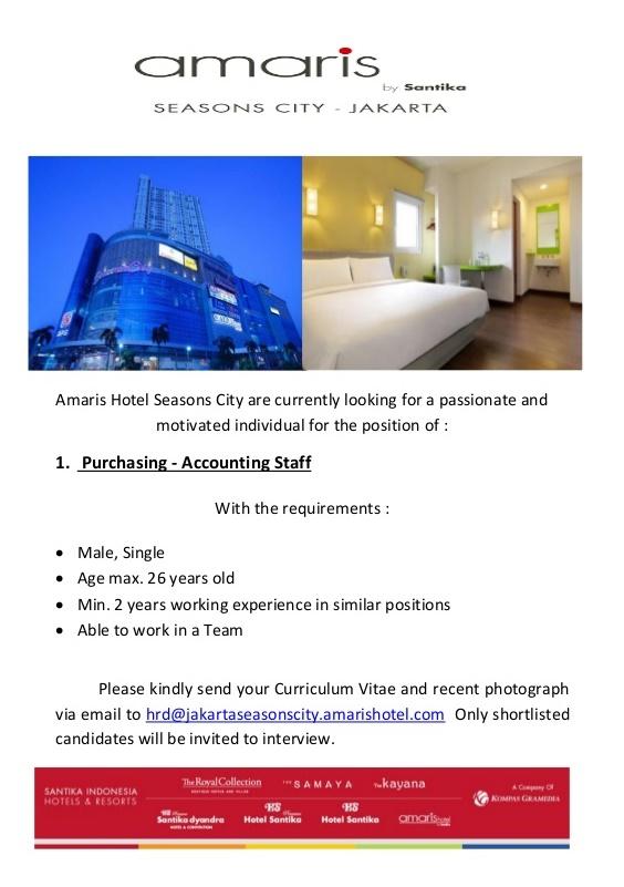 Amaris Hotel Seasons City Jakarta Closed Lokerhotel Com