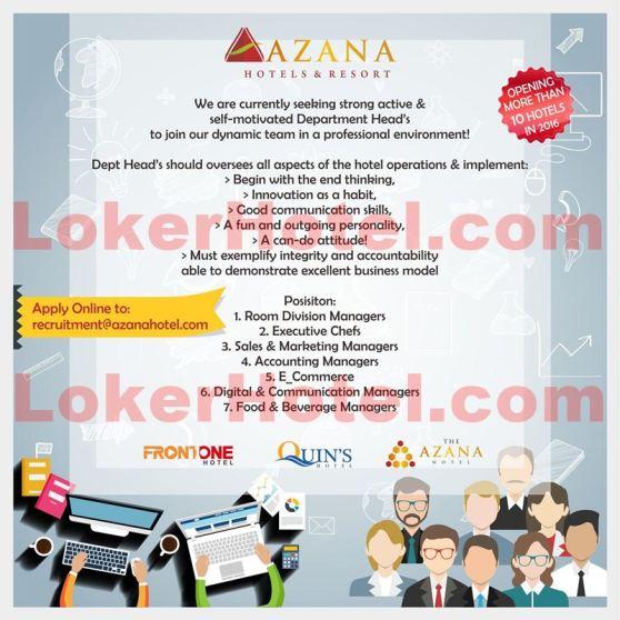 Azana Hotels & Resort / Dicky Sumarsono MM., CHA. Master Hot