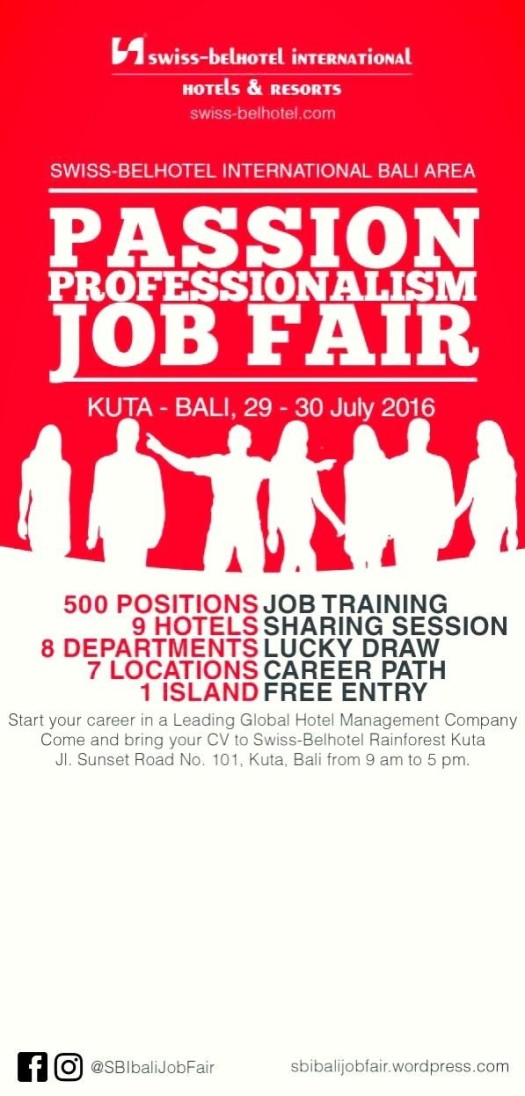 Job Fair & OJT Fair Swiss-Belhotel International Bali // Jeff Vernando