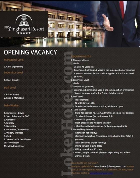 The Singhasari Resort Batu Malang Closed Lokerhotel Com