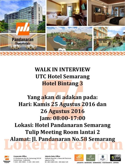 Closed Walk In Interview Utc Hotel Semarang Loker Lowongan Kerja Hotel