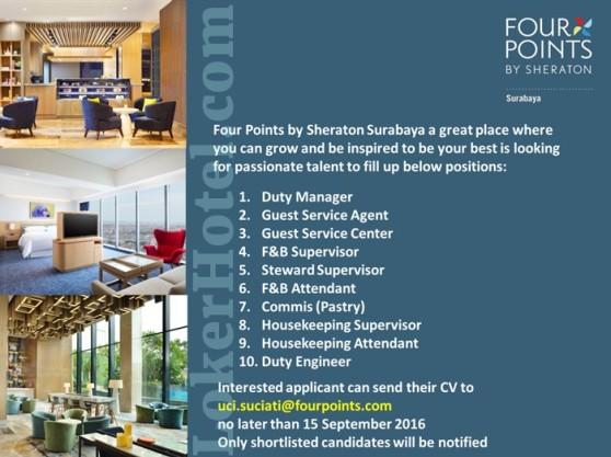Four Points By Sheraton Hotel Surabaya Lokerhotel Com