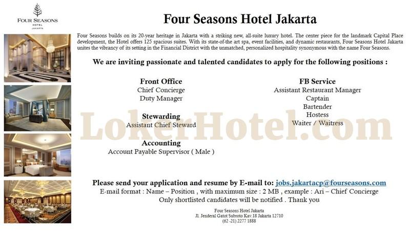 Four Seasons Hotel Jakarta Closed Loker Lowongan Kerja Hotel