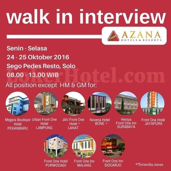 Azana Hotels & Resorts — Walk In Interview // Hartoyo .
