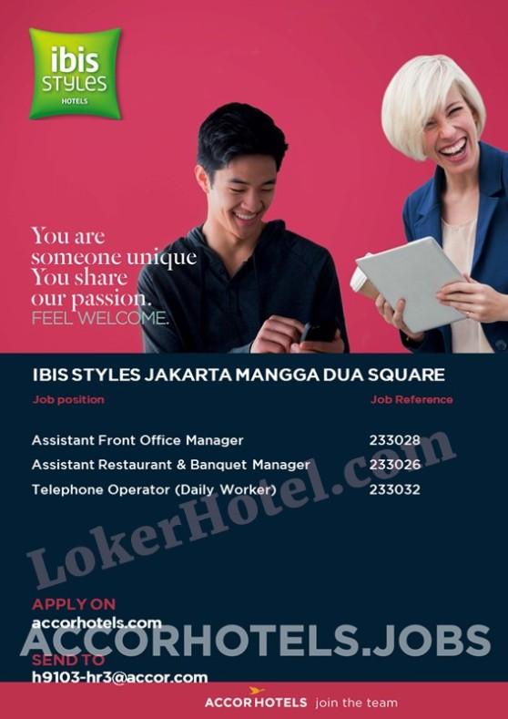 Ibis Styles Jakarta Mangga Dua Square Closed Loker Lowongan Kerja Hotel