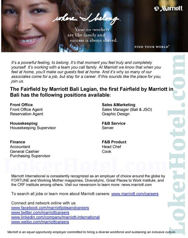 Fairfield by Marriott Bali Legian - LokerHotel com