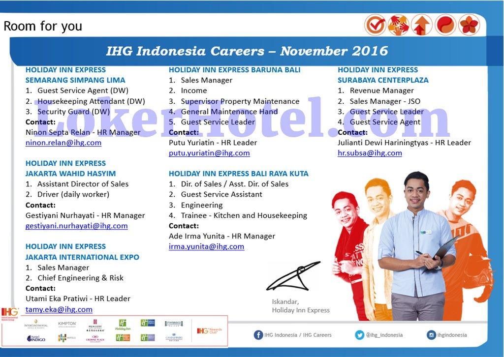 IHG Indonesia Careers November 2016 [CLOSED] - Lowongan