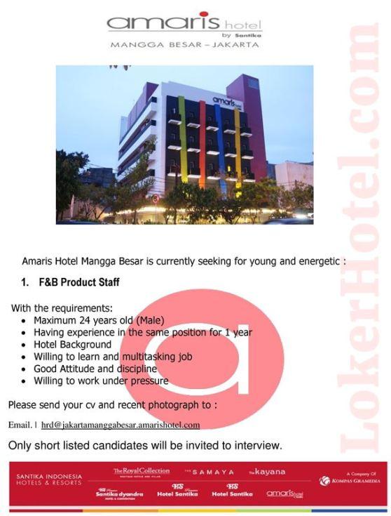 Amaris Hotel Mangga Besar Jakarta Loker Lowongan Kerja Hotel