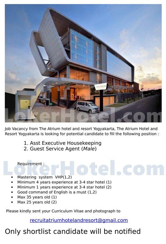 Expired The Atrium Hotel Resort Yogyakarta Lokerhotel Com