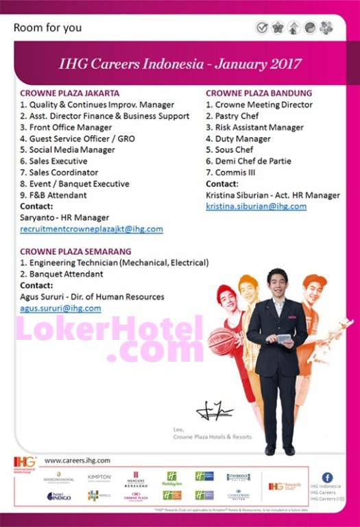 Crowne Plaza Bandung, Semarang & Jakarta