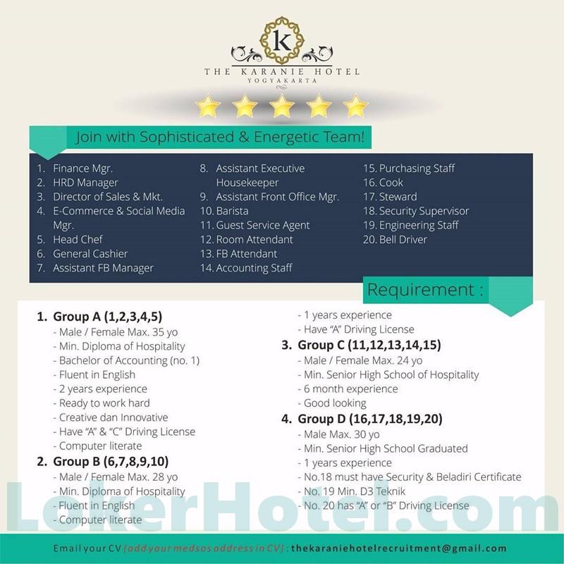 Hotel Tentrem Yogyakarta Closed: Lowongan Engineering Hotel Terbaru