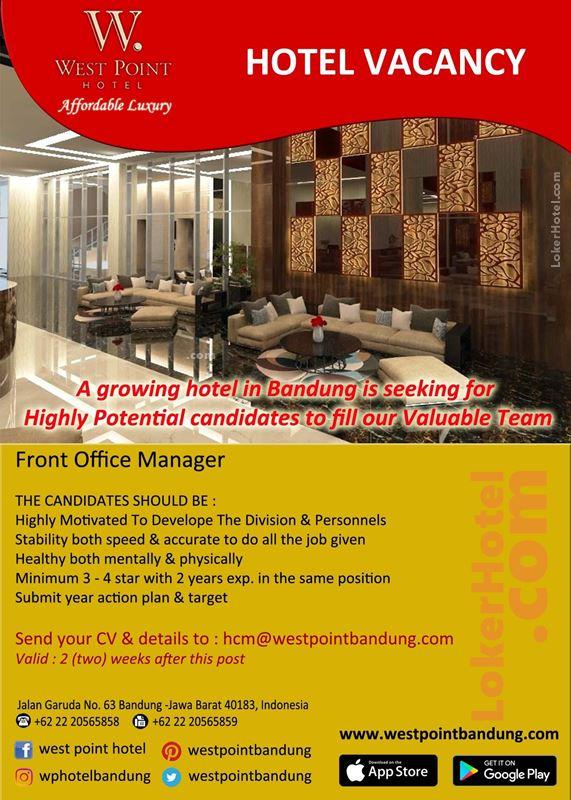 West Point Hotel Bandung Loker Lowongan Kerja Hotel