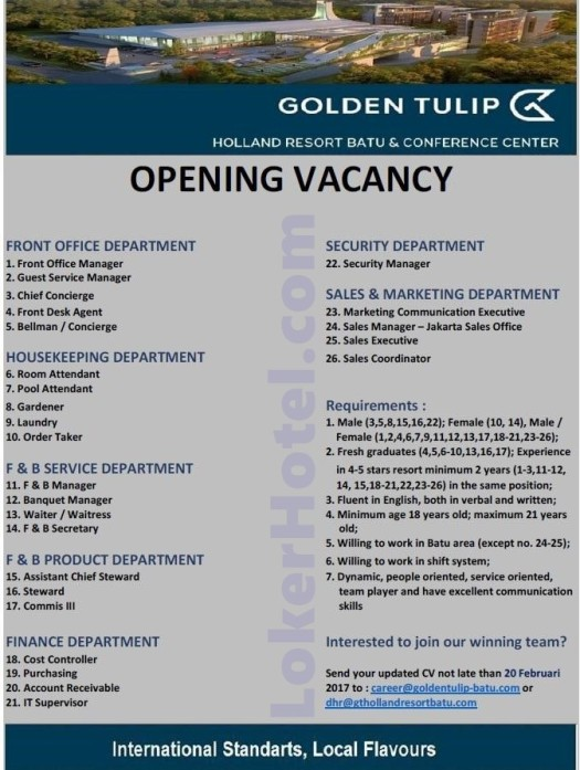 Golden Tulip Holland Resort Batu & Conference Center / Amelia Maria Mangkung