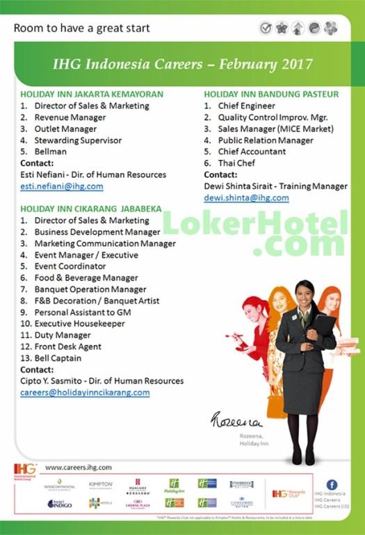 Holiday Inn Jakarta Kemayoran, Bandung Pasteuer & Cikarang Jababeka