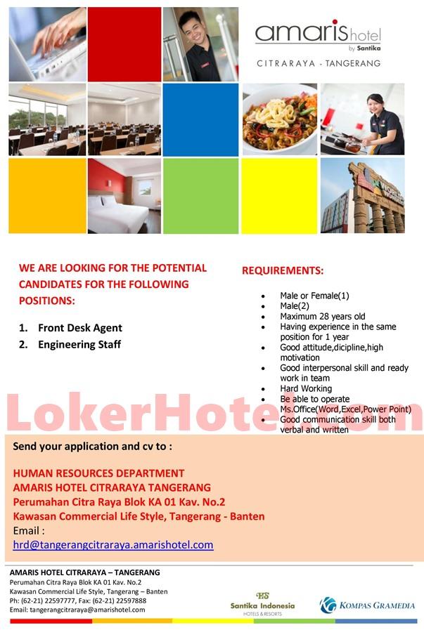 Amaris Hotel Citraraya Tangerang Loker Lowongan Kerja Hotel