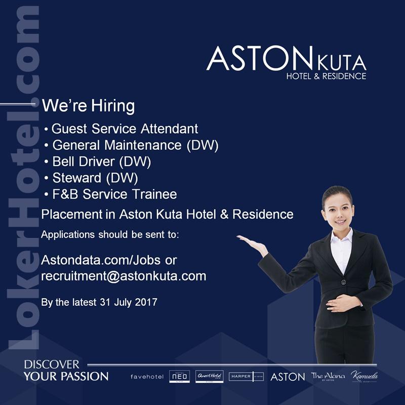 Aston Kuta Hotel & Residence - Lowongan Kerja Hotel