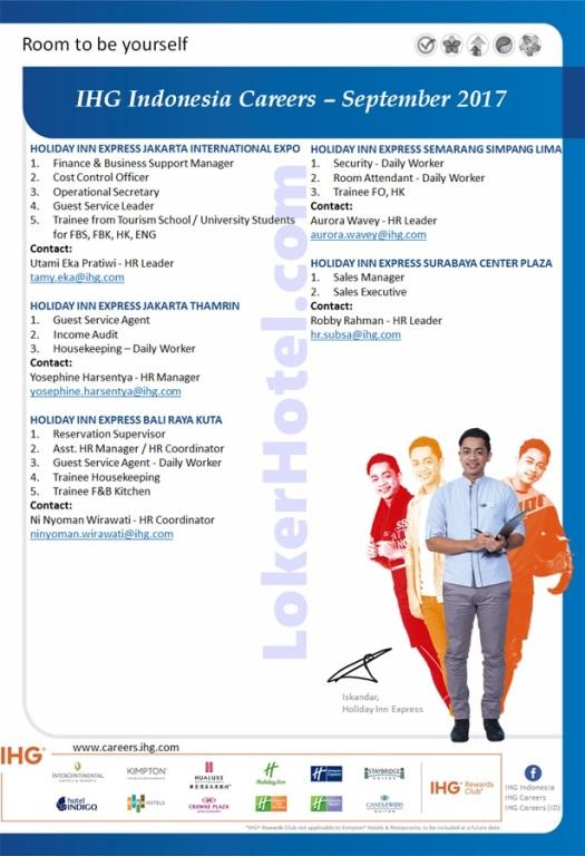 Hoilday Inn Express Jakarta, Bali, Semarang & Surabaya