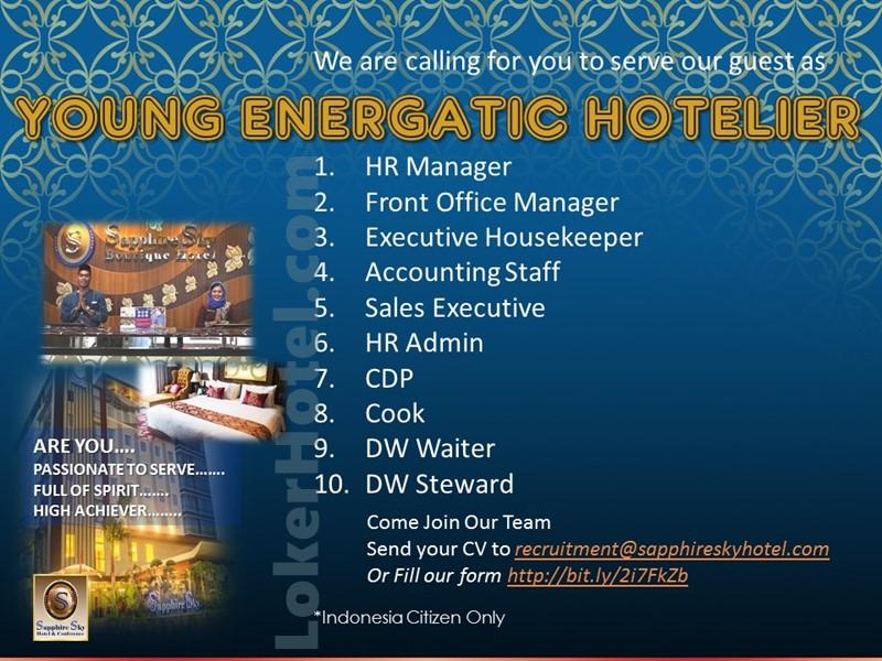 Sapphire Sky Hotel Bsd City Loker Lowongan Kerja Hotel