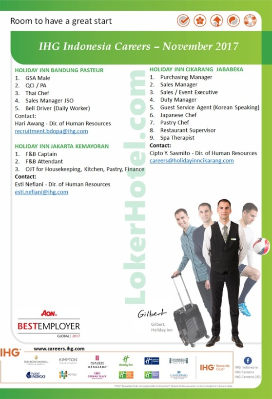 IHG Indonesia Careers November 2017