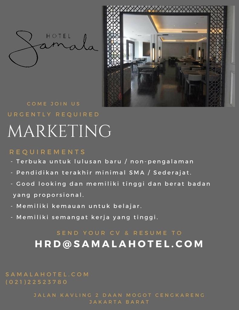 Samala Hotel Jakarta Loker Lowongan Kerja Hotel