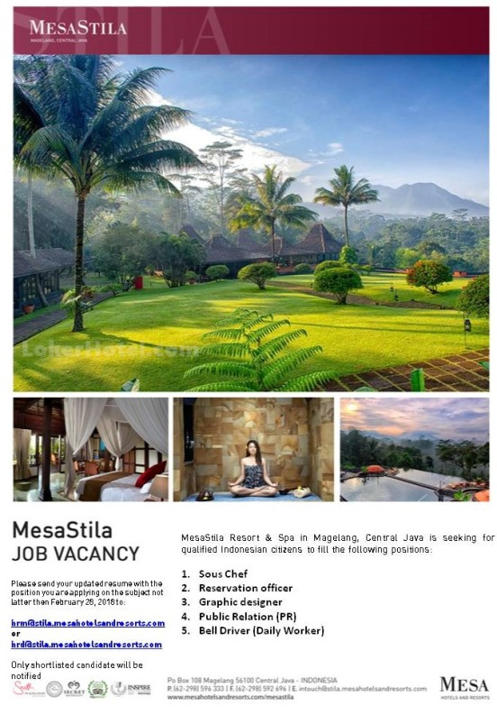MesaStila Resort & Spa in Magelang