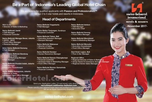 Swiss-Belhotel International — Head of Department